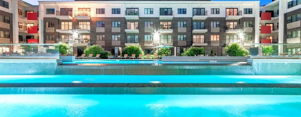 Axis 3700 apartment pool image │ Sherman Residential