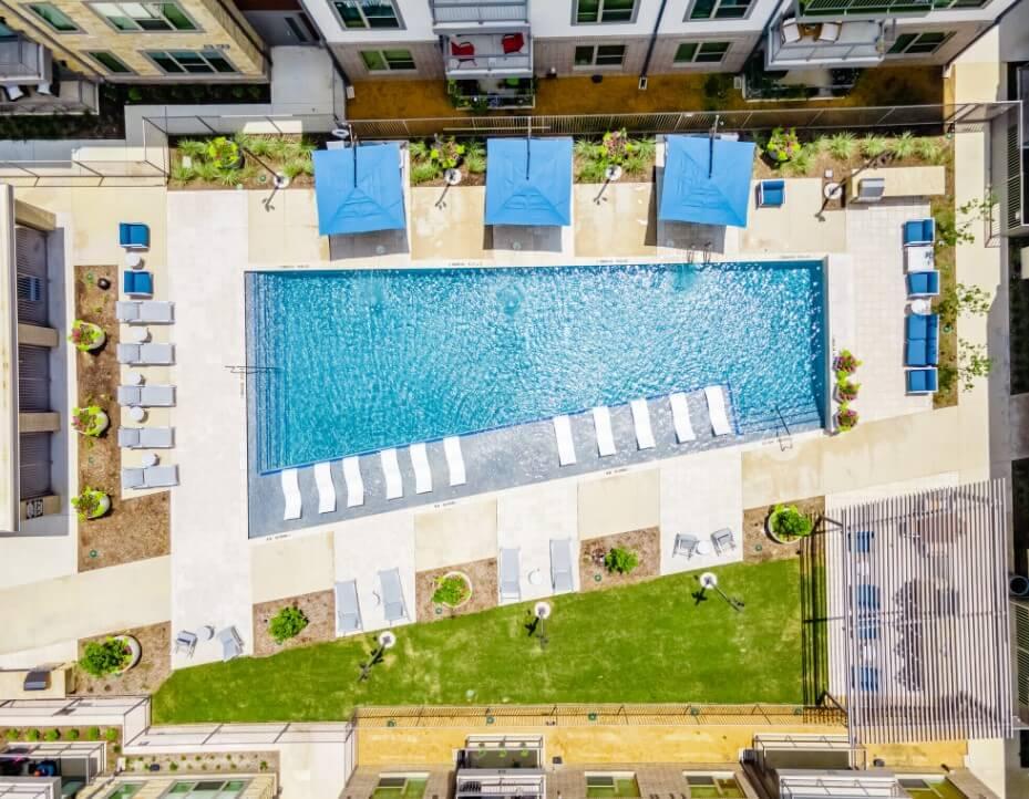 Pool at 26 at City Point Apartments North Richland Hills, TX